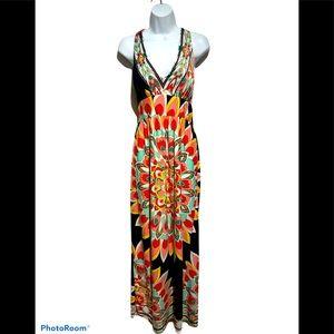 Olivia Matthews Floral Print Maxi Dress